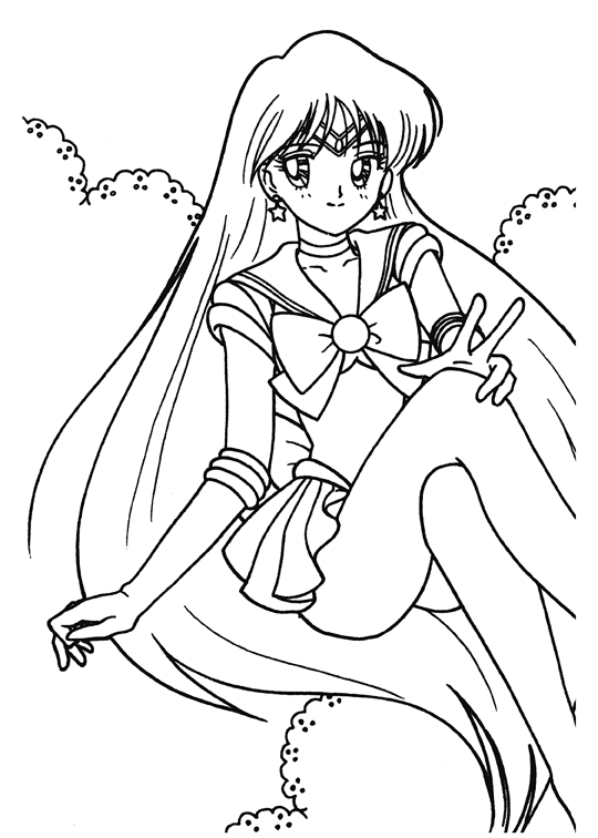 Free Coloring Pages Of Sailor Moon Anime