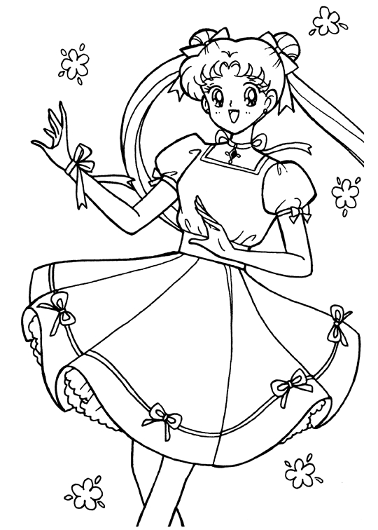 chibi moon coloring pages - photo#36