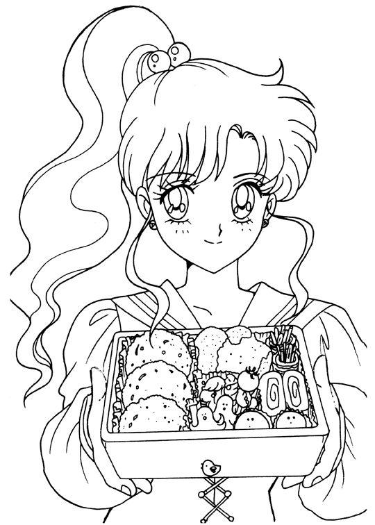 sailor moon crytal colouring pages