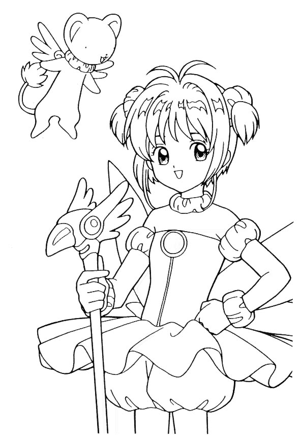 Cardcaptors coloring book free coloring pages for Cardcaptor sakura coloring pages