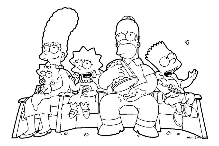 Simpson Drawing Book The Simpsons Coloring Book