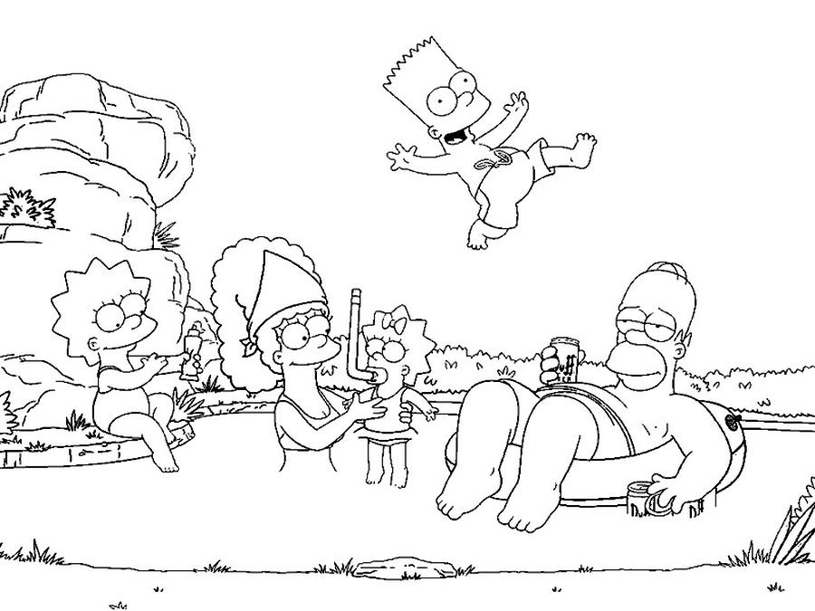 Immagini Da Colorare Simpson